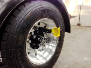 Hjulreflex mont på hjulbult för alufälg